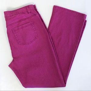 DG2 Diane Gilman Jeans Boot Cut Stretch Pink 14